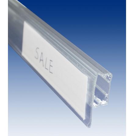 Hyllkantslist för pin pack, transparent