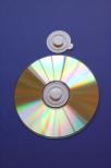 CD-Spindel vit